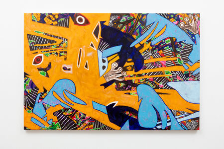 Ruben Nieto, 'Fred Flintstone and Daffy Duck had dinner with Picasso', 2020