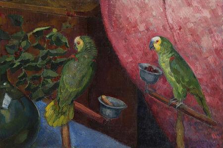 Ángel Zárraga, 'Composition aux perroquets'
