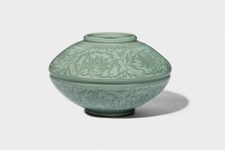 Kwang-yeol Yu, 'Celadon Jar with Inlaid Peony and Scroll Design', 2006
