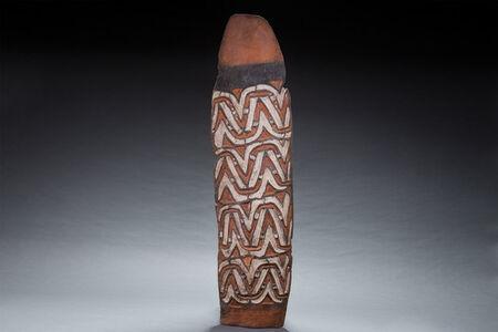 Asmat, 'Old Asmat Shield, New Guinea Art, Tobias Schneebaum Collection, Oceanic Art, Tribal Art, South Pacific', mid 20th century