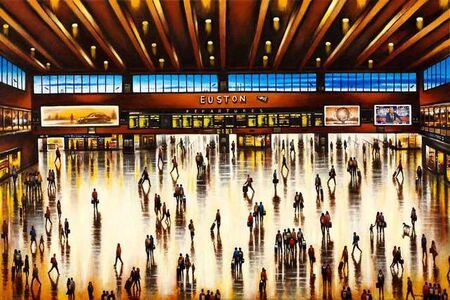 John Duffin, 'Euston Station Concourse', 2020