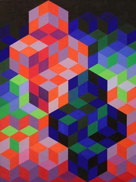Victor Vasarely, 'Duo-2', 1967