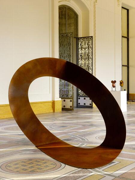 """Felice Varini, '""""Ellipse sans titre""""', Paris 2018"""