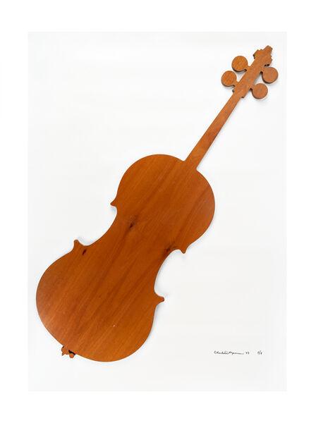 Charlotte Moorman, 'Pear wood cello', 1983