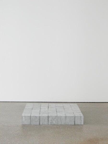 Carl Andre, '49 Belgica Blue Square', 2008