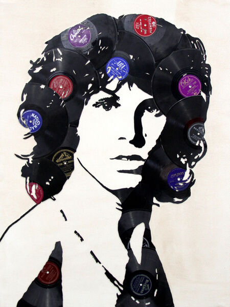 Mr. Brainwash, 'Vinyl Jim Morrison', 2018