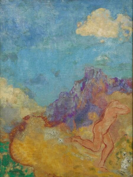 Odilon Redon, 'La fuite', 1910