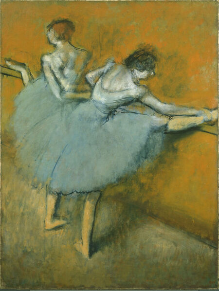 Edgar Degas, 'Dancers at the Barre', ca. 1900