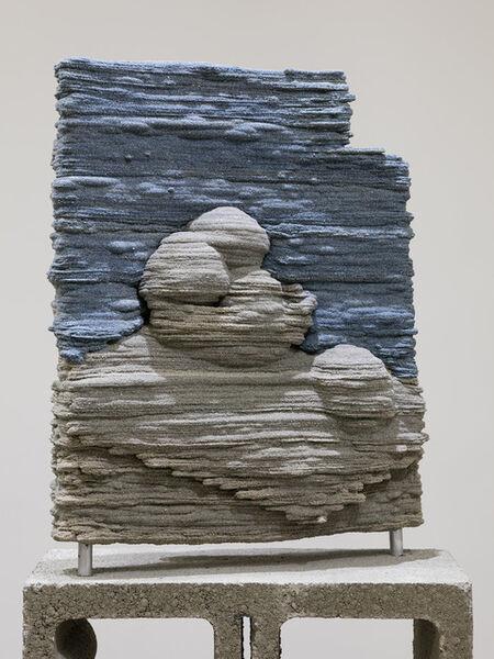 Dwyer Kilcollin, 'Tableau (a line, and blue)', 2016
