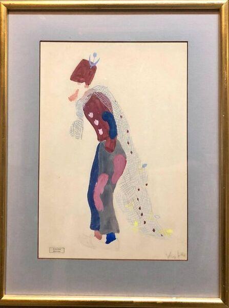 "Marcel Vertes, 'Original Deco Theatre Costume Illustration ""Katinka"" Gouache Painting, Drawing', 1930-1939"