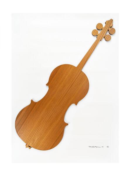 Charlotte Moorman, 'Elm wood cello', 1983