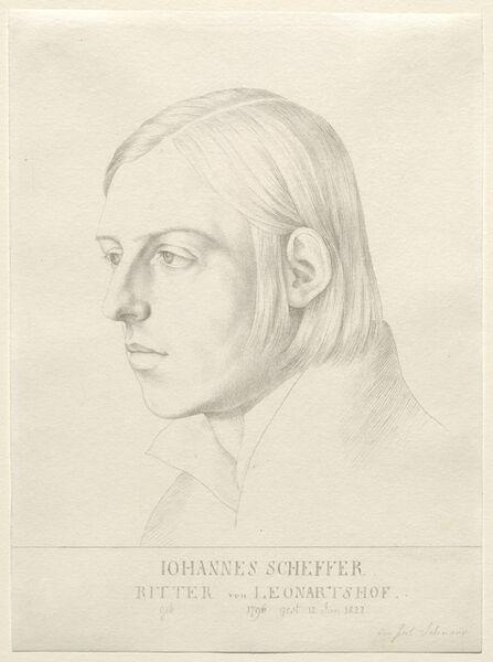 Julius Schnorr von Carolsfeld, 'Johann Evangelist Scheffer von Leonhardshoff', ca. 1822