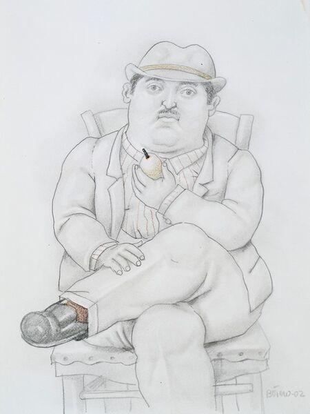 Fernando Botero, 'Seated Man', 2002