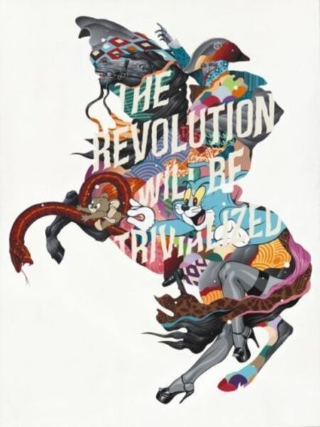 Tristan Eaton, 'THE REVOLUTION WILL BE TRIVIALIZED (SILVER EDITION)', 2017
