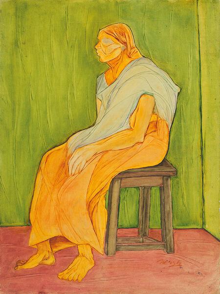Surendran Nair, 'Figure Study', 1977
