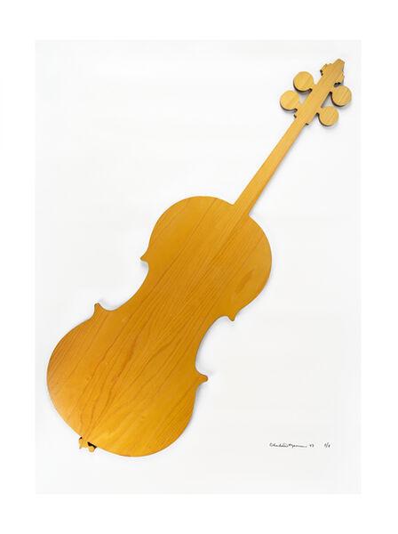 Charlotte Moorman, 'Pine wood cello', 1983