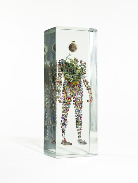 Dustin Yellin, 'Cow on the Moon', 2019