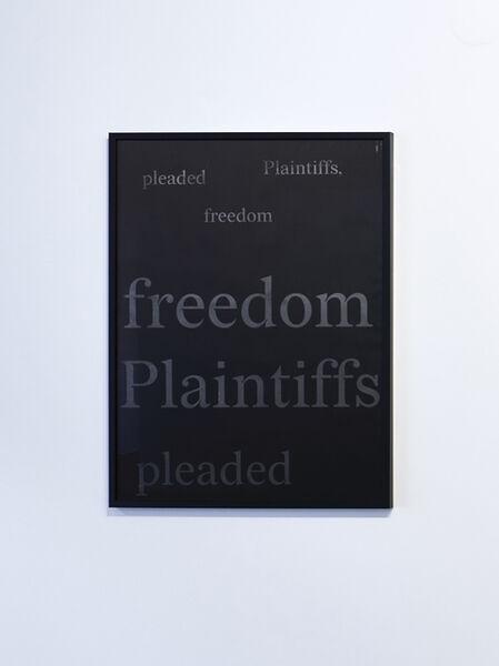 Titus Kaphar, 'The Redaction (Freedom Plaintiffs#1)', 2019
