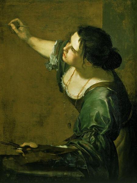 Artemisia Gentileschi, 'Self-Portrait as the Allegory of Painting', ca. 1639