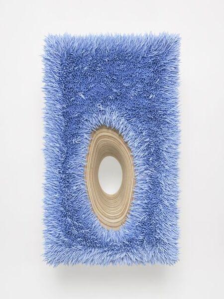 Donald Moffett, 'Lot 112616 (organic hole, radiant blue)', 2016