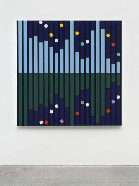 Sarah Morris, 'Another World [Sound Graph]', 2018