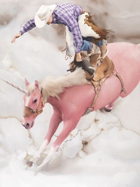 Will Cotton, 'Flying Cowboy', 2019-2020