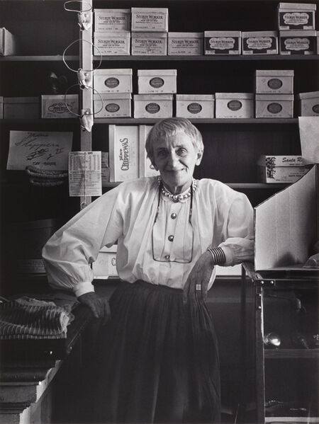 Pirkle Jones, 'Dorothea Lange in Cook, McKenzie and Son Store, Monticello, Berryessa Valley, from the series Death of a Valley', 1956