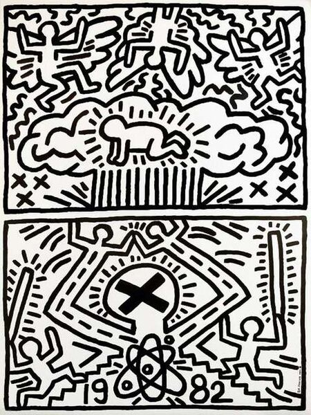 Keith Haring, '1982 Nuclear Disarmament Poster ', 1982