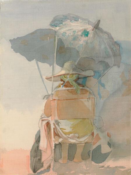 David Levine, 'Untitled (Beach Umbrella)', 1970