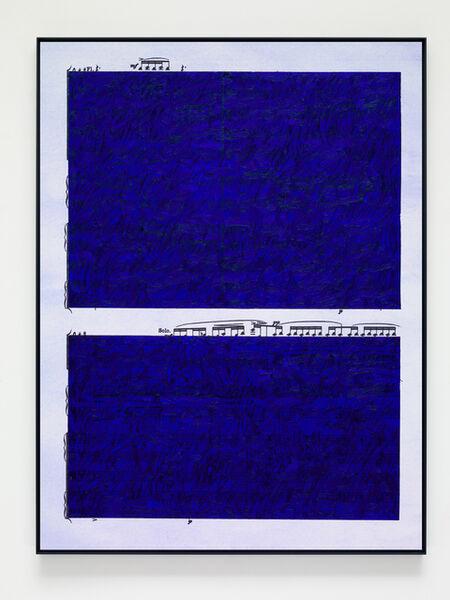 Idris Khan, 'Ultramarine Rhythms 1', 2019