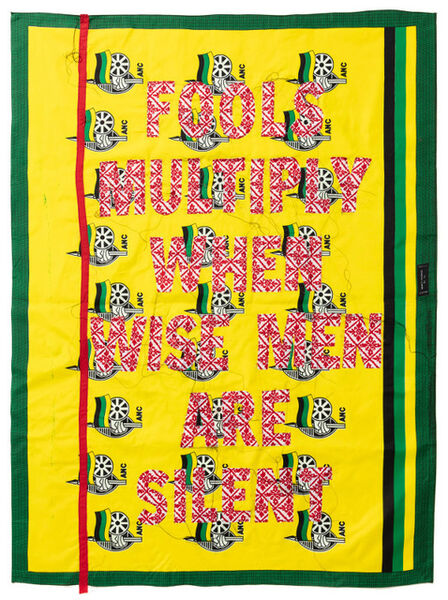 Lawrence Lemaoana, 'Fools multiply when wisen Men are silent', 2019