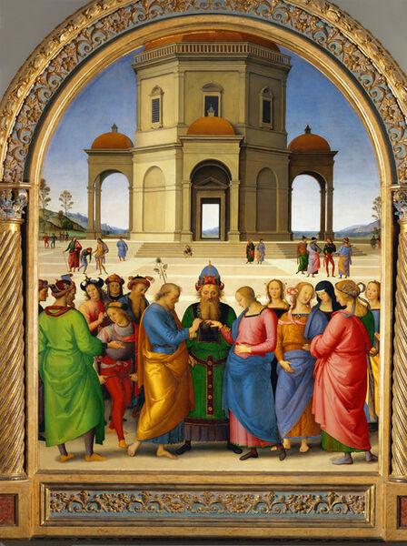 Pietro Perugino, 'The marriage of the Virgin Mary', 1500-1504