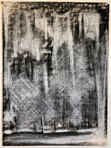 James O. Clark, 'Abstract Gestural Drawing Chalk and Charcoal Drawing, Light Sculpture Artist', 1980-1989