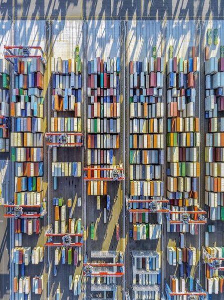 Jeffrey Milstein, 'Container Port 45', 2019
