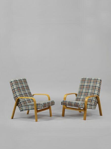 Atelier des Recherches Plastiques (A.R.P), 'Pair of armchairs 1005', 1955