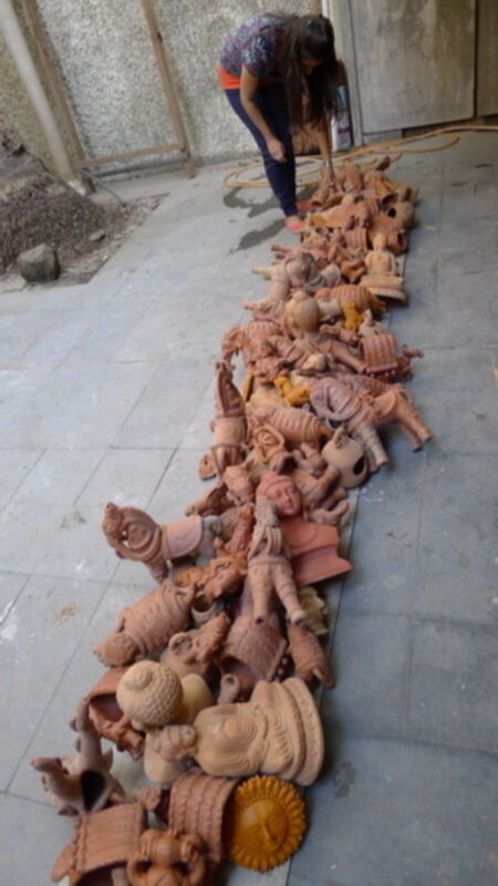 Sudarshan Shetty, 'Path to Water', 2013, Installation, Terracotta objects, Gallery Ske
