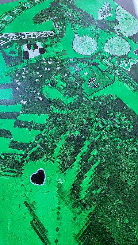 Dante Moore, 'Ghost Princess ', 2021, Painting, Steel, Spray Paint, Xylene Laser jet Image Transfer,  Sharpie Marker, Acrylic Paint Marker, Cerbera Gallery