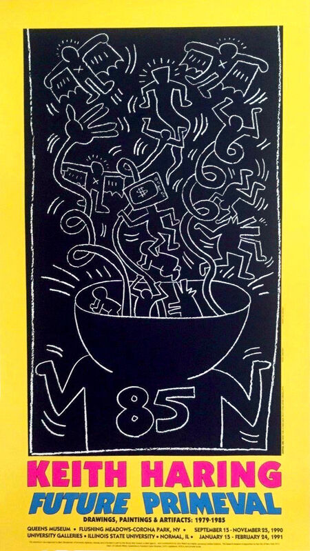 Keith Haring, 'Keith Haring Future Primeval exhibition poster 1990', 1990, Ephemera or Merchandise, Offset lithograph, Lot 180