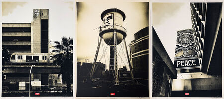 Shepard Fairey (OBEY), 'Covert to Overt: Big Brother, Icon Water Tower  & Peace Tree ', 2015