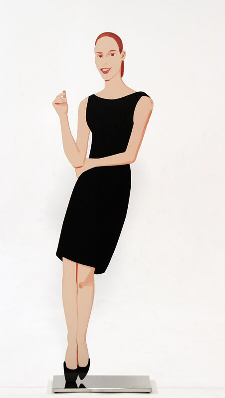 Alex Katz, 'Ulla (from Black Dress cut-out series)', 2018, Sculpture, Baked archival UV inks on shaped powder-coated aluminum, printed on 2-sides, mounted to polished stainless steel base, Artsy x Tate Ward