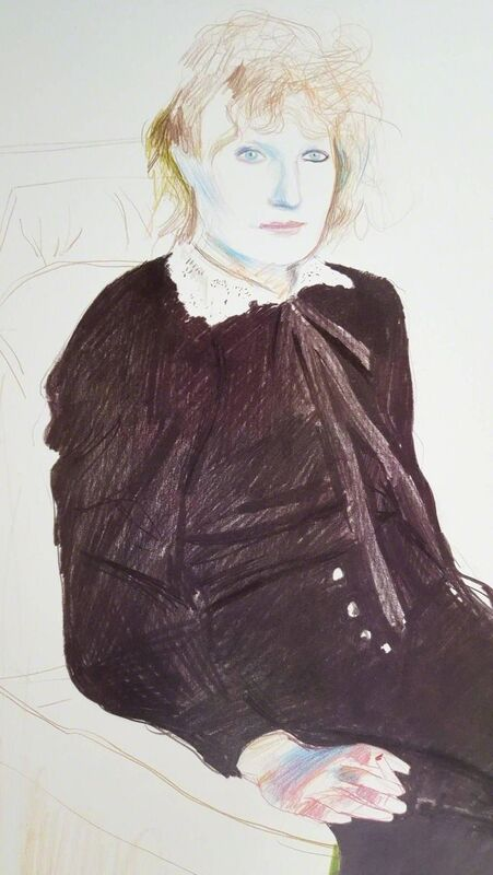 David Hockney, 'Celia, Paris, Black Stockings', 1980, Posters, Offset-Lithograph, Exhibition Poster, Graves International Art