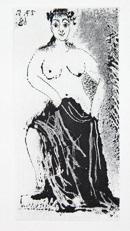 Pablo Picasso, 'Une Posant sur un Piédestal', 1968, Print, Etching and aquatint, Goldmark Gallery