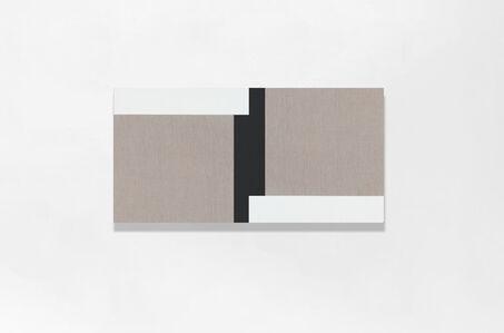Scot Heywood, 'Haikube - Linen, White, Black', 2020
