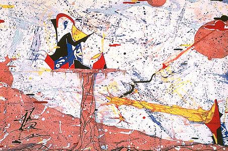 Rammellzee, 'Palladium Protractor, Chase to Assassination, (Gothic Futurism)', 1984
