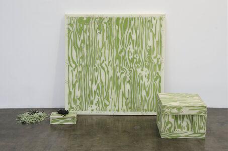 Jeanne Silverthorne, 'Green Woodgrain with Beetles', 2014