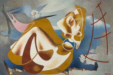 Enrico Prampolini, 'La Sezione d'Oro - Paesaggio femminile di un'attrice (Carmen Boni)', 1930