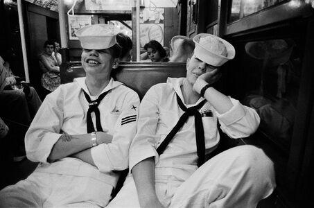 Harold Feinstein, 'Sailors on the Subway from Coney Island', 1947