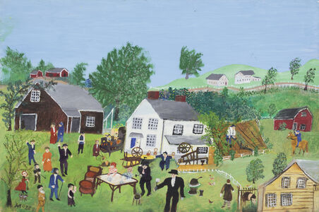Grandma Moses, 'Auction #2', 1961