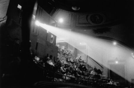 Diane Arbus, '42nd Street movie theater audience, N.Y.C.', 1958 / printed by Neil Selkirk