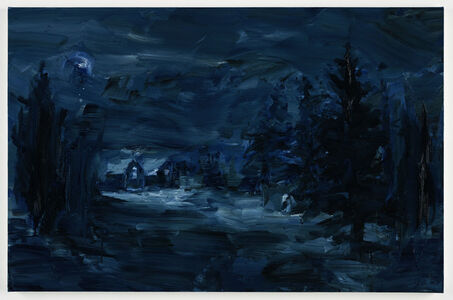 Yan Pei-Ming, 'Dreaming of a winter night there', 2018